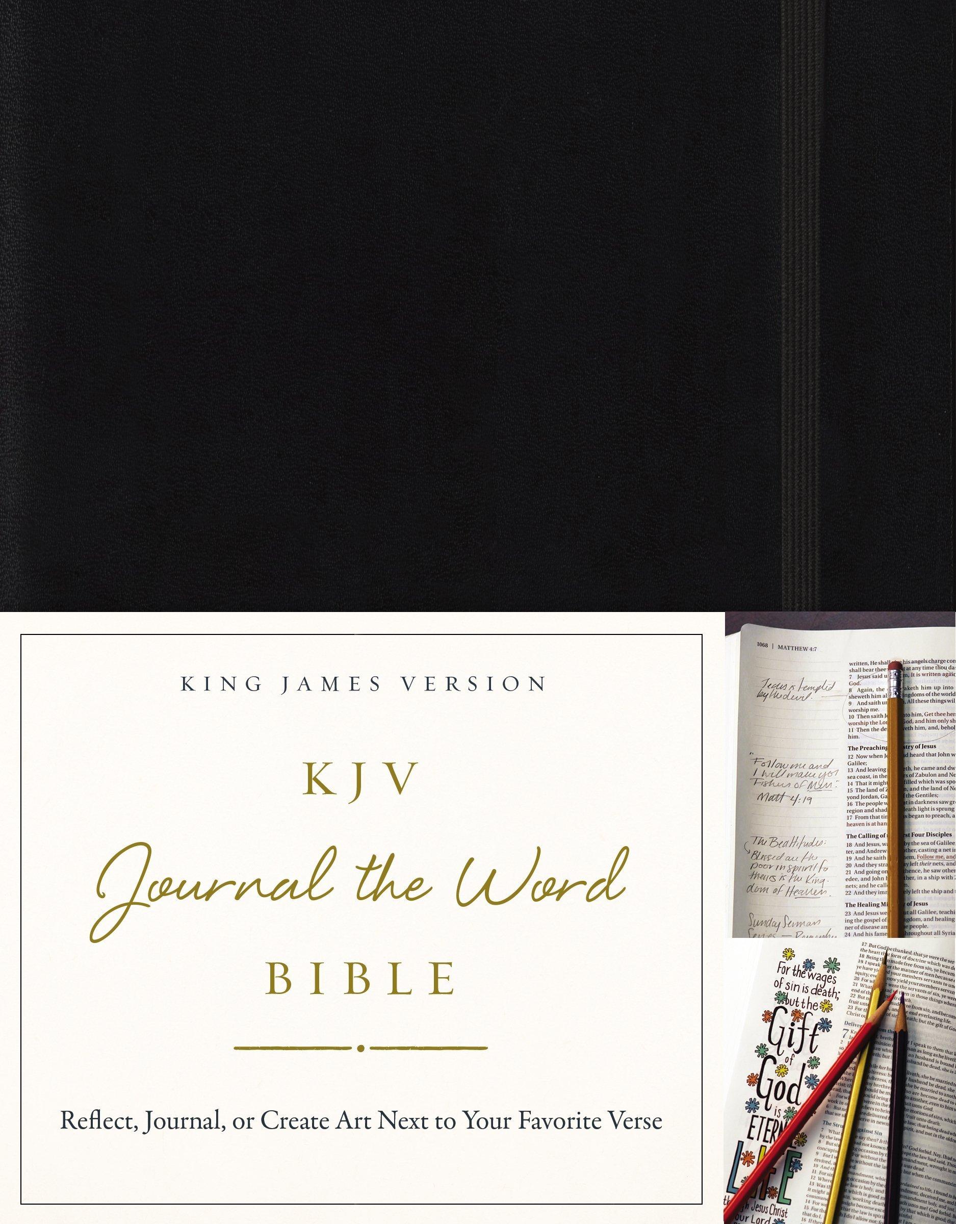 Journal Bible Hardcover Black Letter