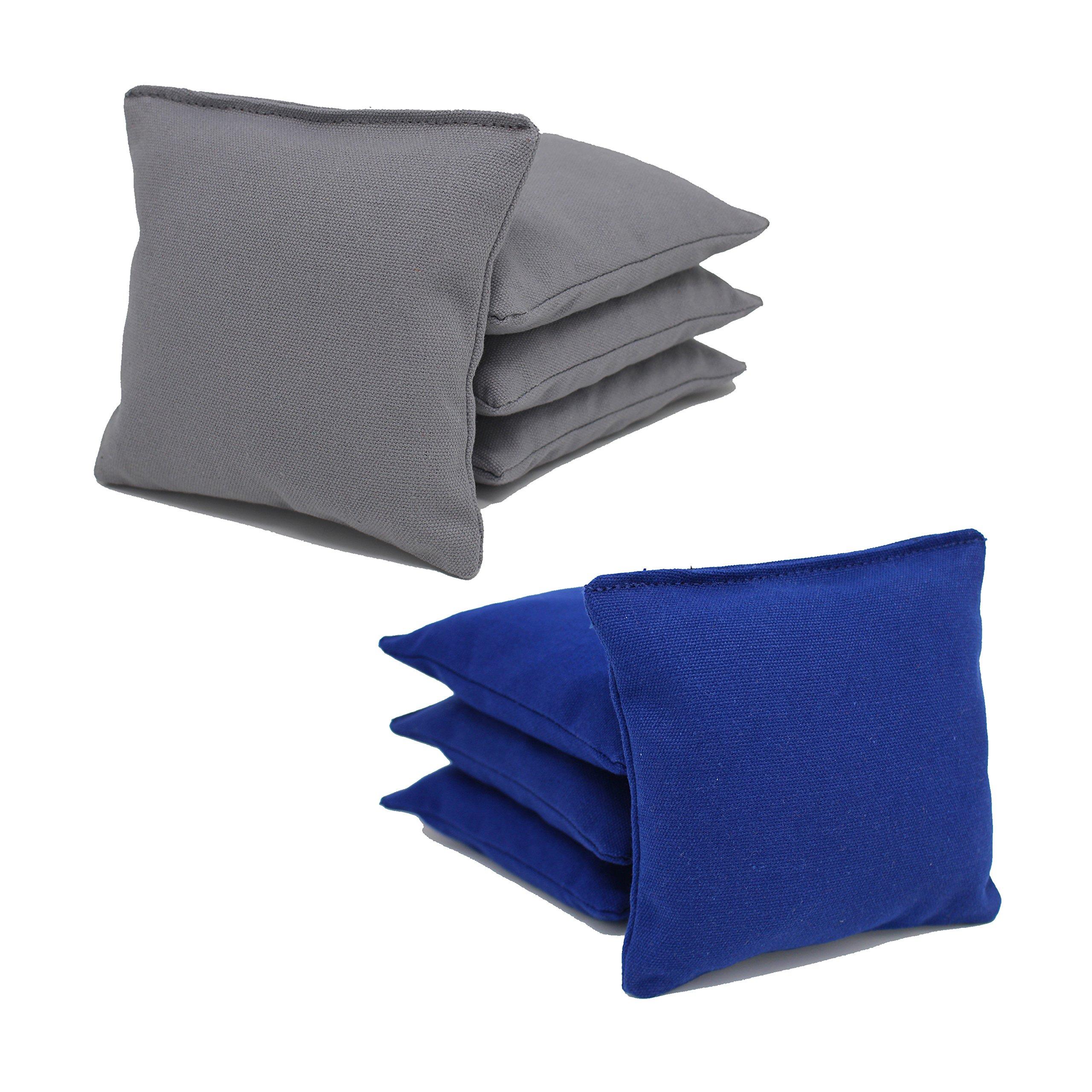 Free Donkey Sports Cornhole Bags (Pack of 8), Royal/Gray, Regular by Free Donkey Sports