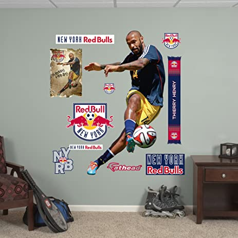 MLS New York Red Bulls Thierry Henry Fathead Wall Decal, Real Big