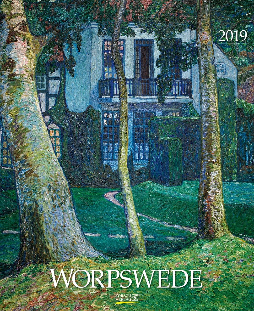 Foliendeckblatt Wandkalender mit detailgetreuen Worpswede 204019 2019: Gro/ßer Kunstkalender charmanten Werken Format: 45,5 x 55 cm
