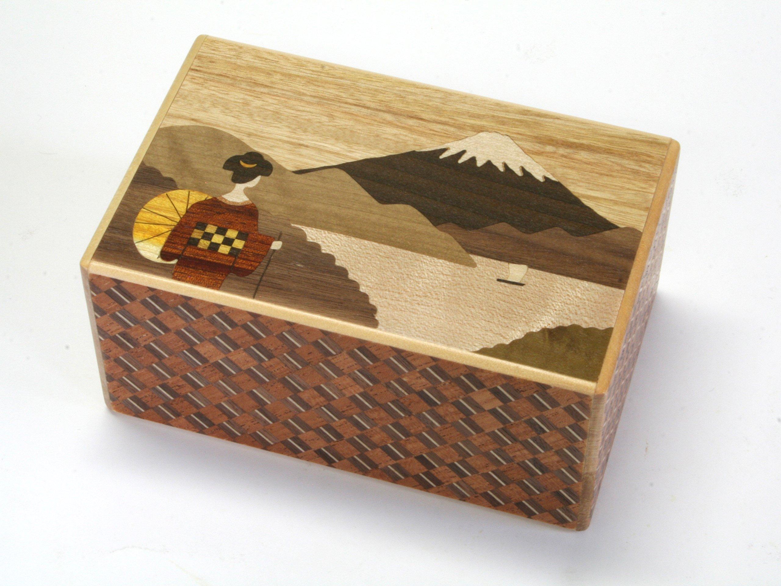 Japanese Puzzle Box 21steps Maiko by Hakone Maruyama