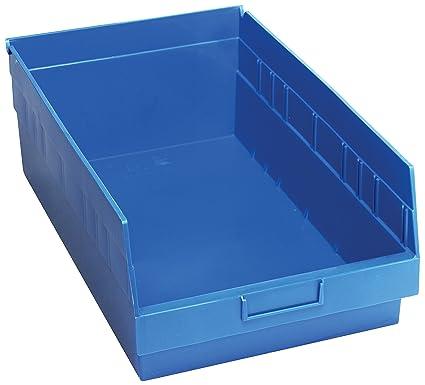 """17-7//8/""""L x 11-1//8/""""W x 6/""""H QUANTUM STORAGE SYSTEMS QSB210BL Blue Shelf Bin"""