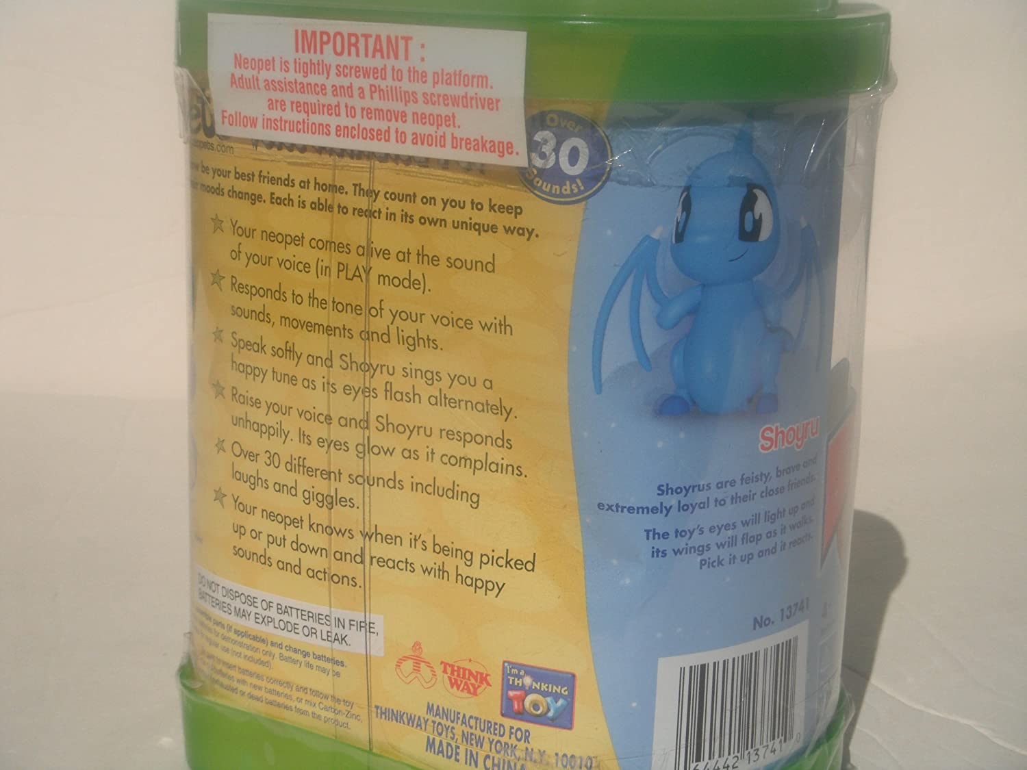 NEOPETS VOICE ACTIVATED PET: SHOYRU by Thinkway Toys (2002