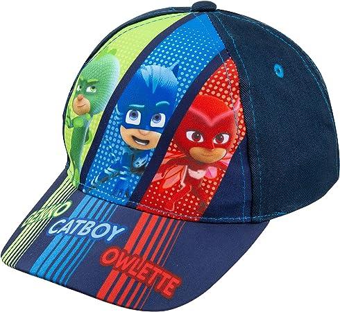 PJ Masks Boys Baseball Cap Hat Adjustable Strap Cartoon for Kids Red//Blue