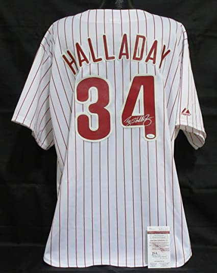 Signed Roy Halladay Jersey - Pinstripe - JSA Certified - Autographed ... 107c1d2bf5c