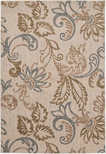 Deacon Beige, Brown and Gray Transitional Area Rug 2 x 3 3