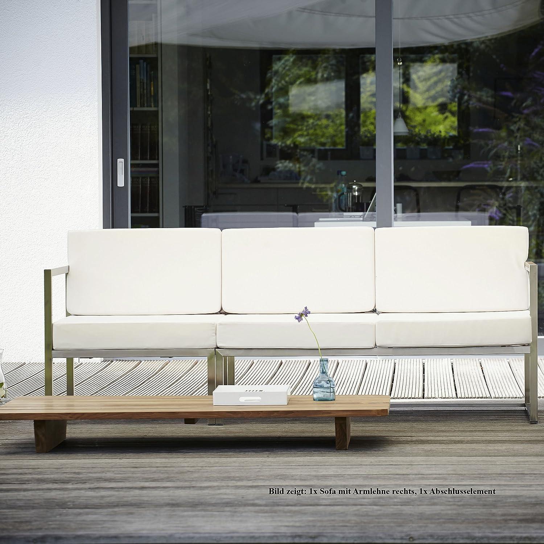 Lux Lounge Sofa 2-Sitzer Armlehne rechts / weiß