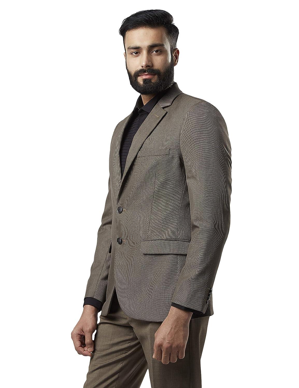 Best Dark Brown Slim Fit Polyester Blend Blazer