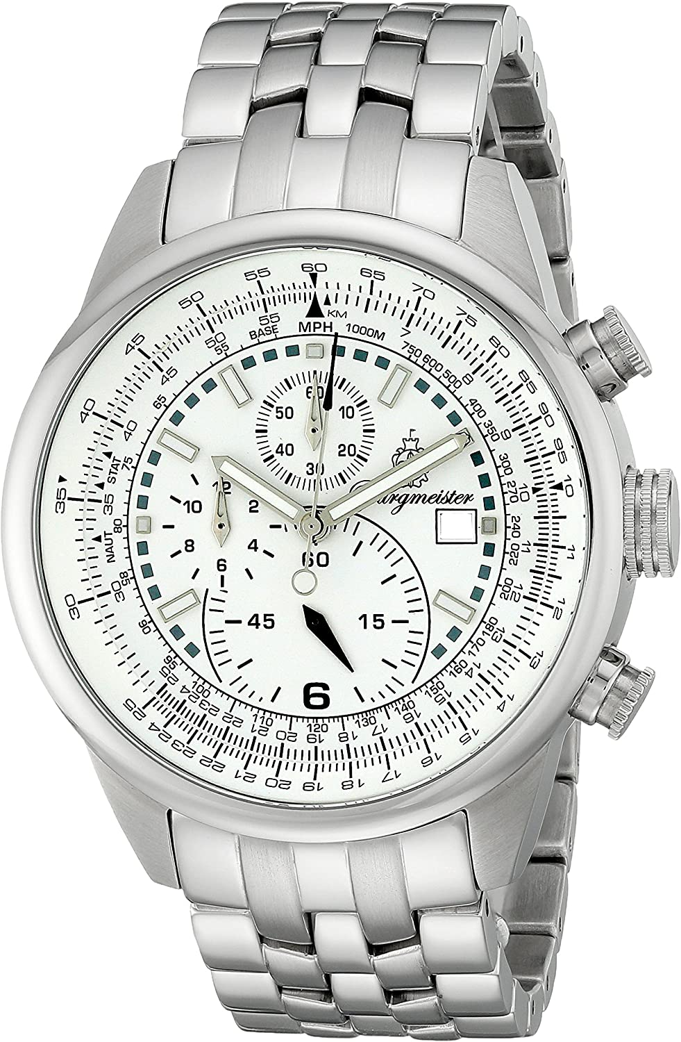 Burgmeister BM505-181 Melbourne, Gents watch, Analogue display, Quartz with Citizen Movement – Water resistant, Stylish stainless steel bracelet, Classic men s watch