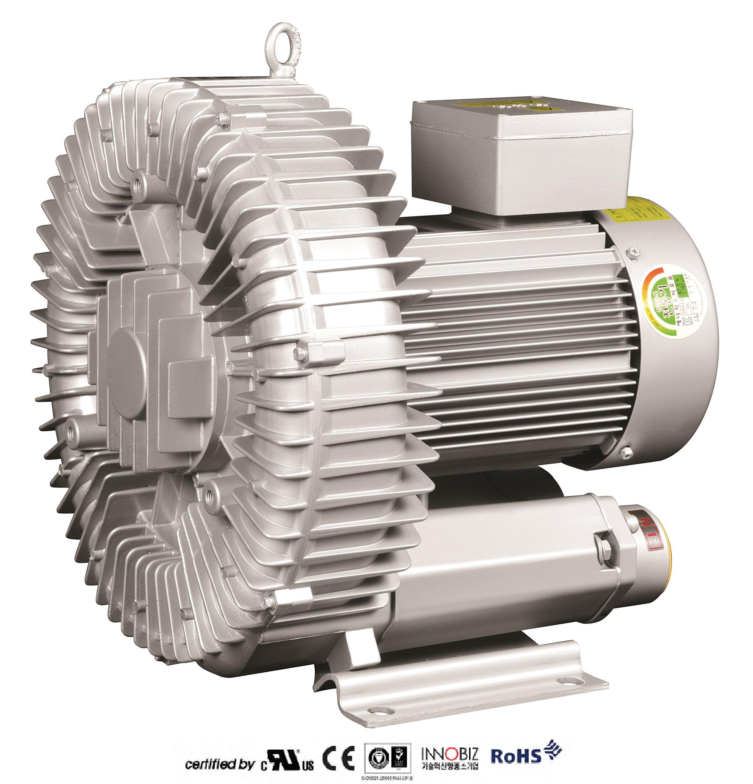 Pacific Regenerative Blower PB-500 (HRB-500), Ring, Side channel, Vacuum Pressure Blowers