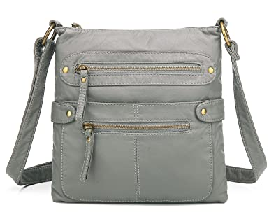 3af49e2cd4 Scarleton Casual Double Zipper Crossbody Bag H182024 - Grey ...