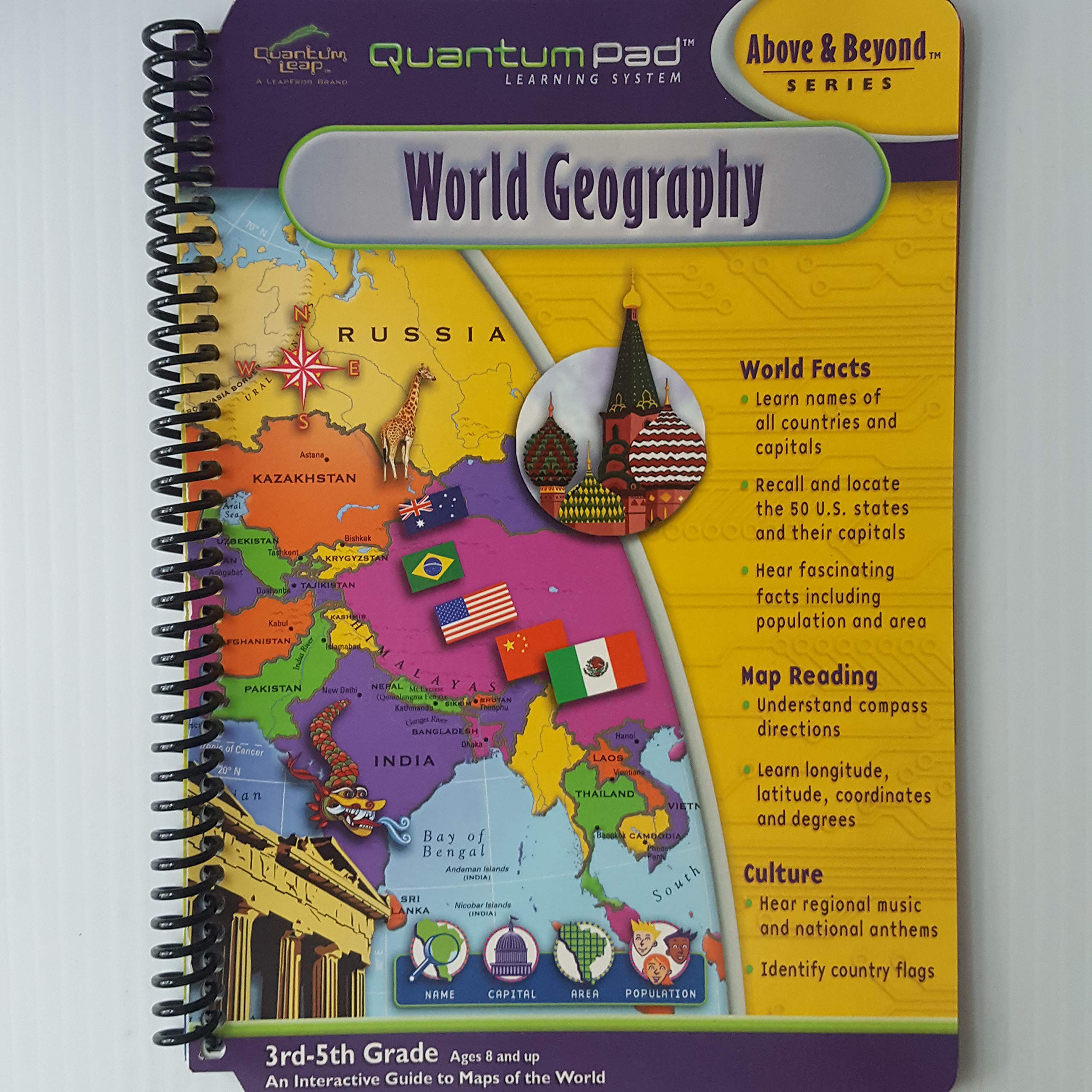 Download Quantum Pad World Geography (3rd-5th Grade) (Above & Beyond Series) pdf epub