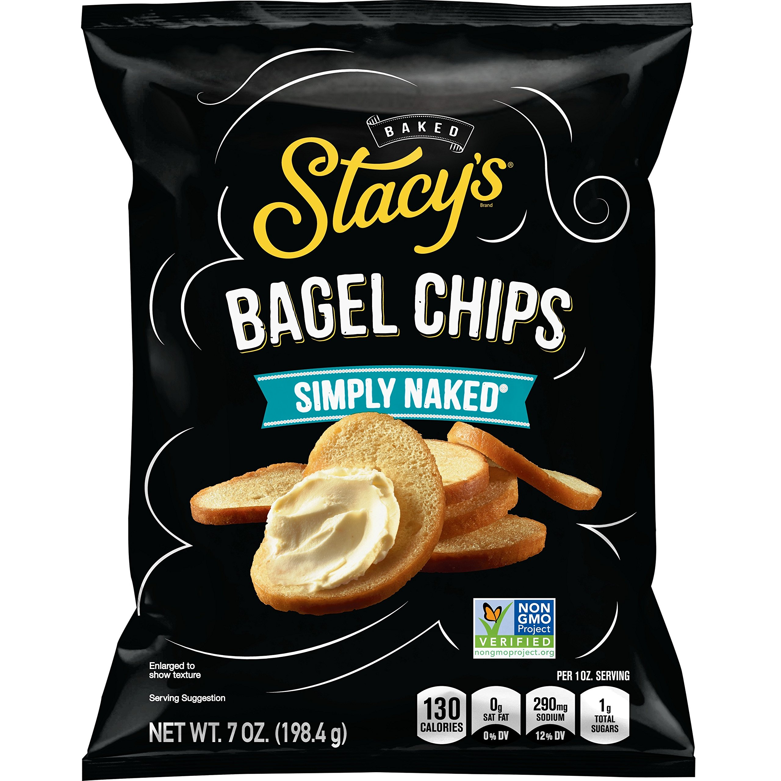 Stacy's Simply Naked Bagel Chips, 7 oz Bag