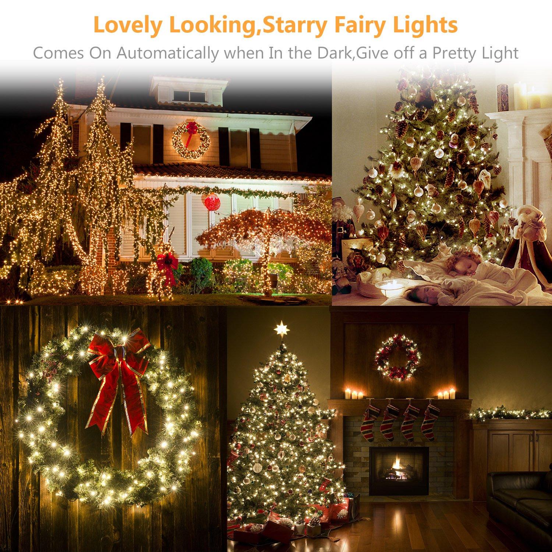 Solar String Lights, Ldesign 33Ft 100 Led Bright Solar Decorative