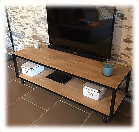 Mobilier bois et métal Mueble de salón Madera y Metal Acero ...