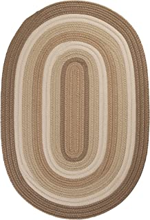 product image for Colonial Mills Brooklyn Polypropylene Braided Rug, 3-Feet by 5-Feet, Natural