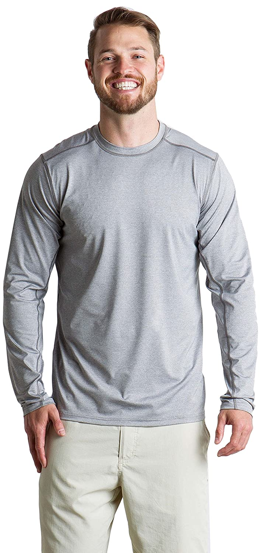 ExOfficio Mens Sol Cool Sun Relaxed Fit Long-Sleeve Crewneck Shirt