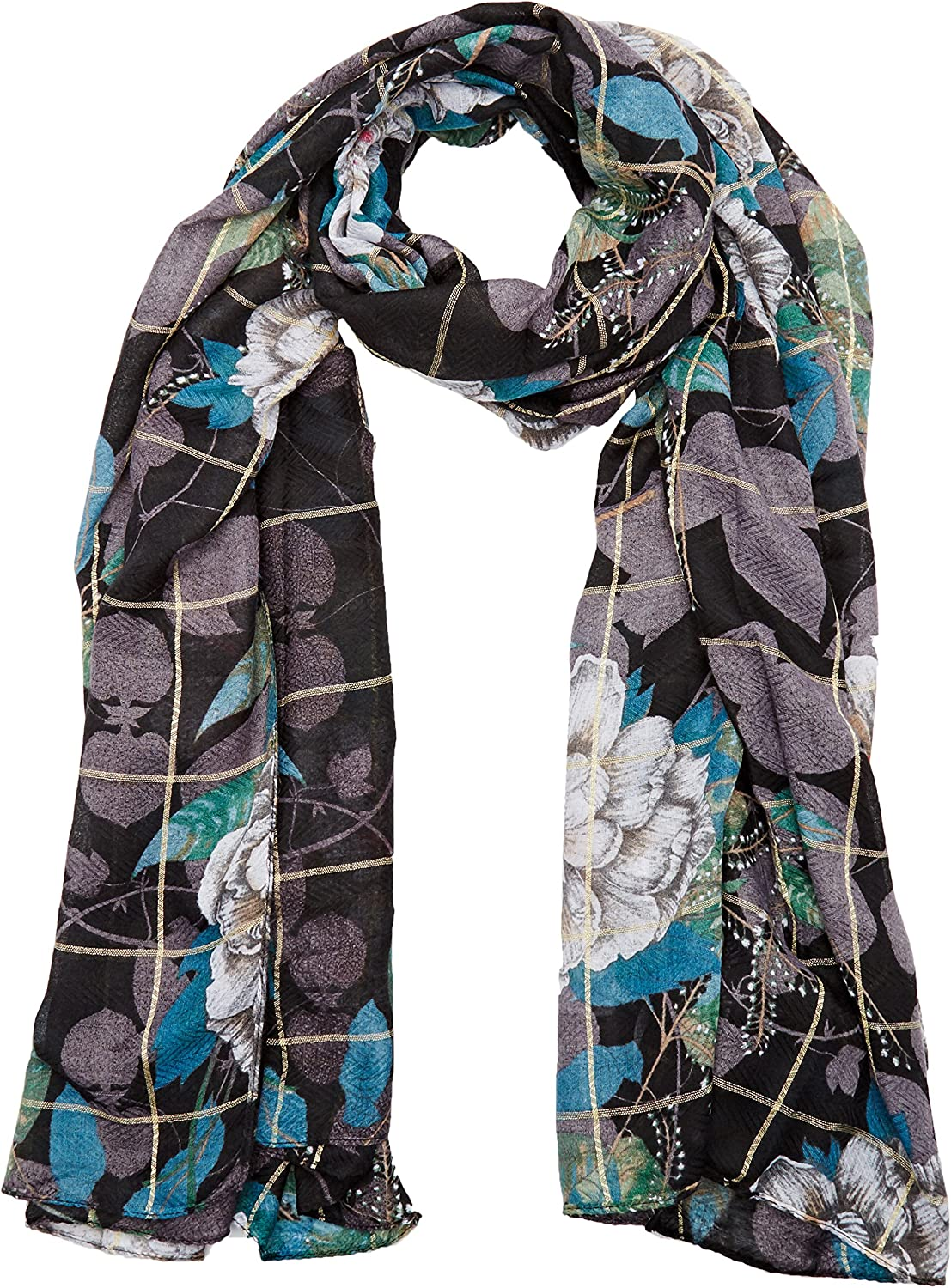 Desigual Foulard/_Rectangle Troy Bufanda para Mujer