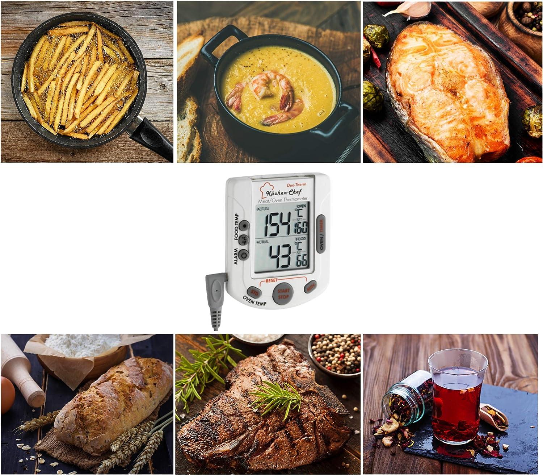 Sweo K/üchen-Ofen-Thermometer Thermometer Zifferblatt Ersatz f/ür BBQ Pit Smoker Grill Fleisch Kochen 800/°F Temperaturanzeige