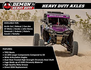Polaris RZR 1000//XP Turbo Front Heavy Duty DEMON Axle