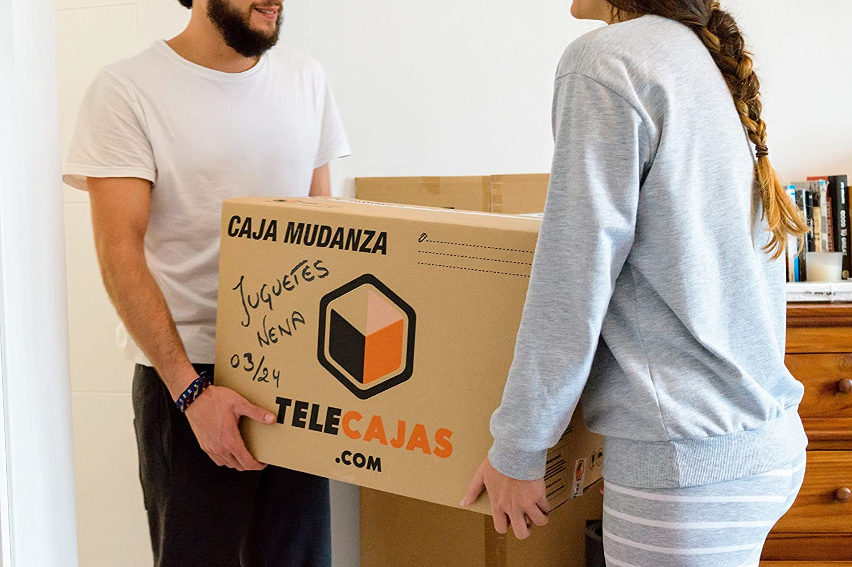 TeleCajas (10x) Cajas de cartón para Mudanzas Doble Pared con Asas EXTRAFUERTES TeleCajas X10TCM (x10) Lote de 10 unidades (40x40x60): Amazon.es: Oficina y papelería