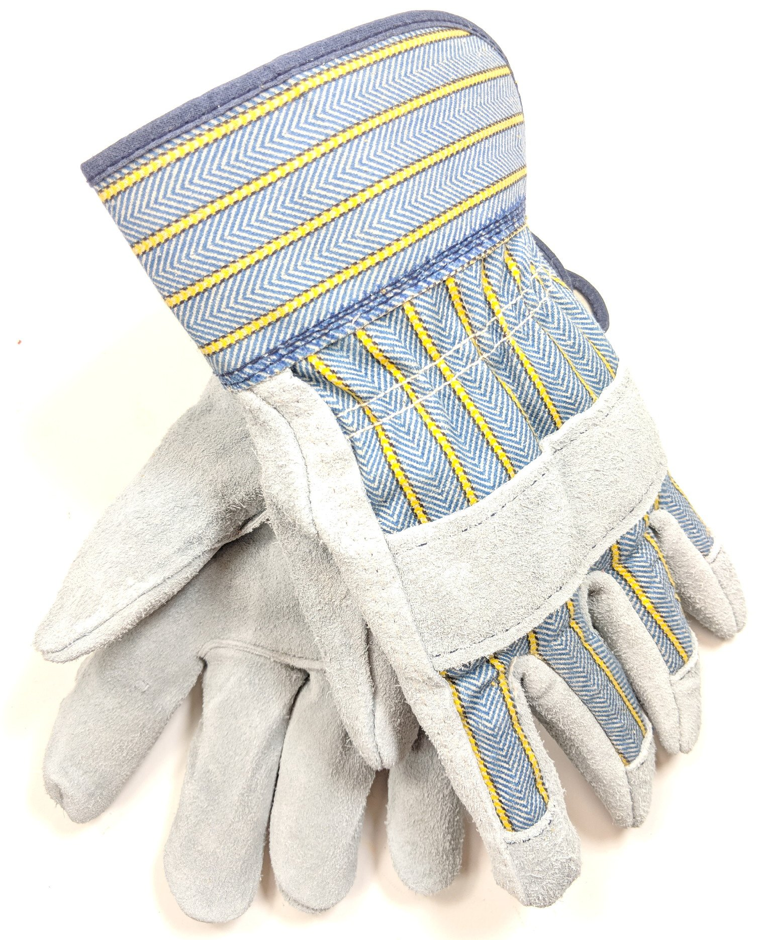 Carolina Glove Large Select Side Split Cowhide Gloves with Short Safety Cuff Made in the USA