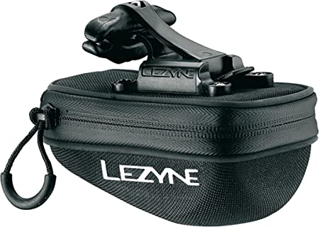 LEZYNE Pod Bicycle Caddy Quick Release Saddle Bag, Lightweight, QR Mounting System, Compact, Water Resistant, Easy Access Bike Caddy
