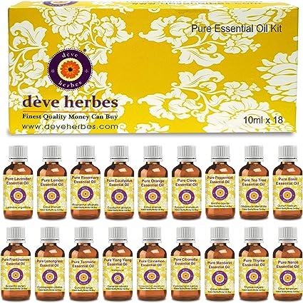 Kit de Aceites Esenciales Deve Herbes 100% Vapor Natural Destilado ...