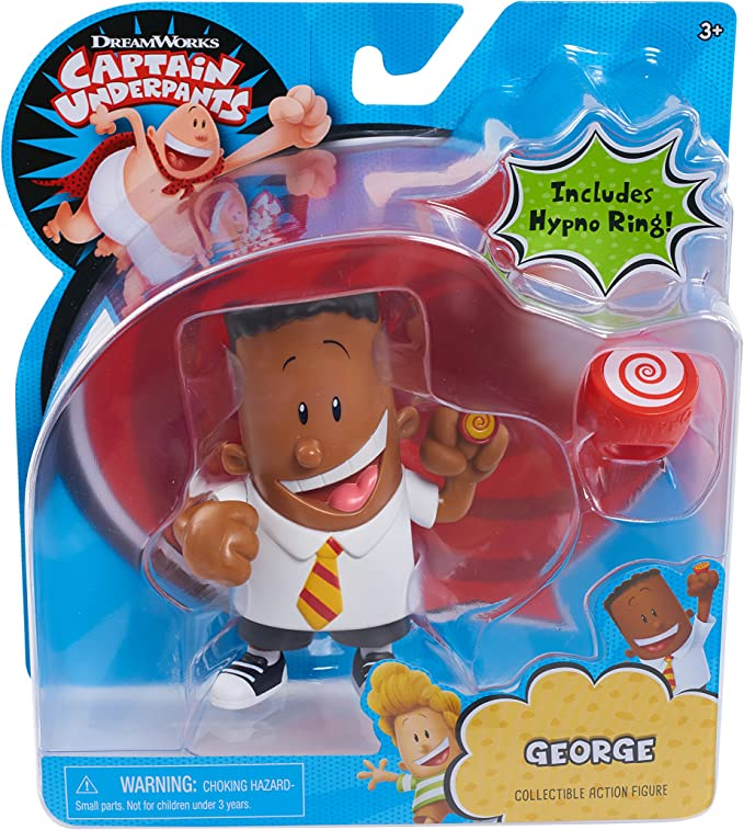 Amazon Com Just Play Captain Underpants Collectible George Figure Toys Games