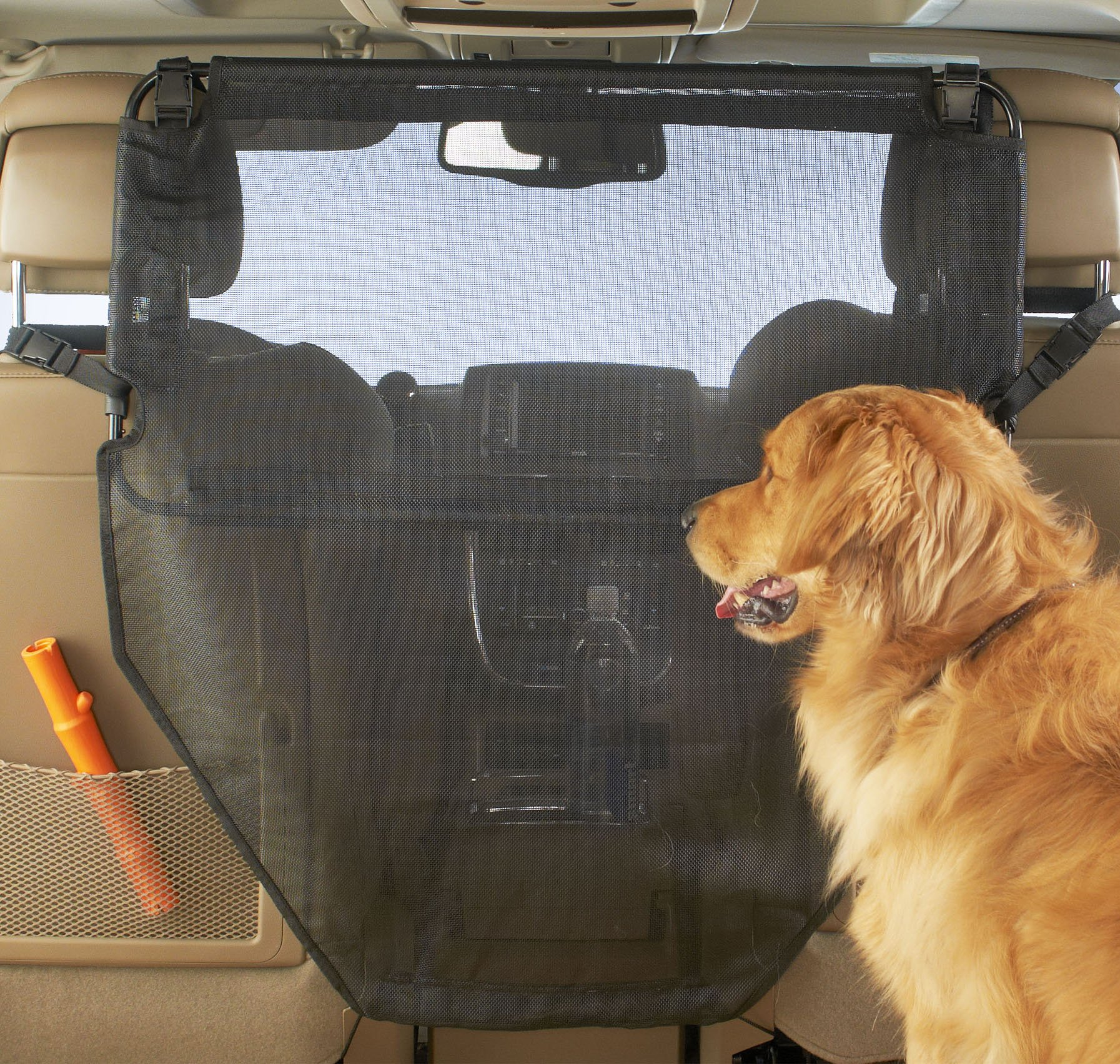 High Road Dog Car Barrier with Full View Mesh Cover and Padded Steel Frame by High Road