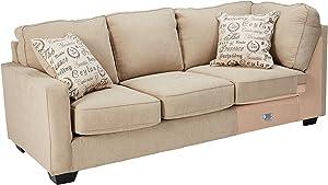 Signature Design by Ashley - Alenya Contemporary Left Arm Facing Sofa - Sectional Component Only, Quartz