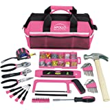 Apollo Tools DT0020P 201 Piece Household Tool Kit with Most Reached Tools in a Sturdy Tool Bag Pink Ribbon