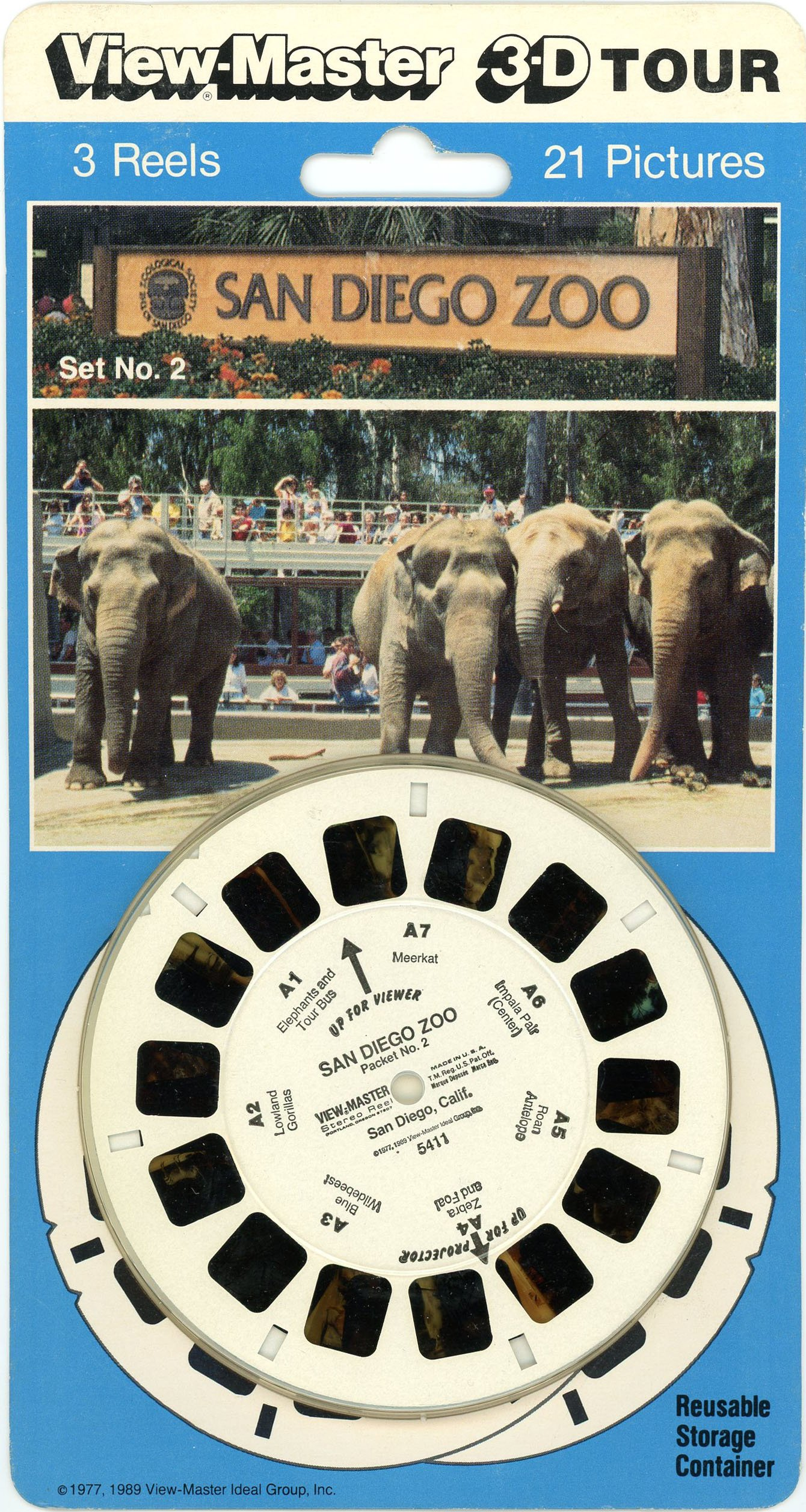 San Diego Zoo - Set 2 - Classic Viewmaster 3 Reels on Card - NEW by 3Dstereo ViewMaster