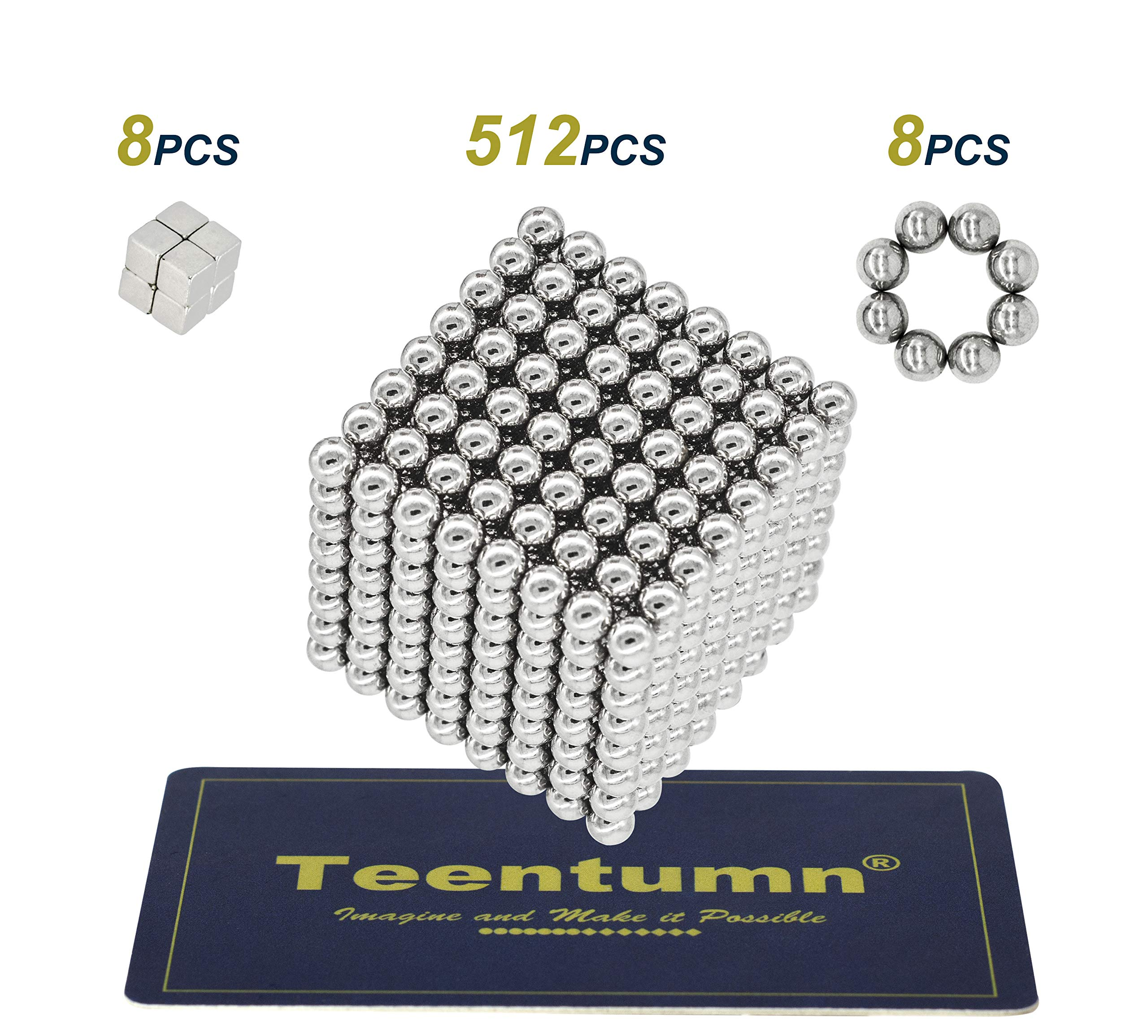 Teentumn 528 Pieces 5mm Sculpture Building Blocks Toys for Intelligence Learning -Office Toy & Stress Relief for Adults by Teentumn