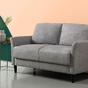 Zinus Jackie Classic Upholstered 53.5 Inch Sofa