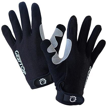 Amazon Com Geartop Cycling Gloves Mtb Mountain Bike Gloves Full