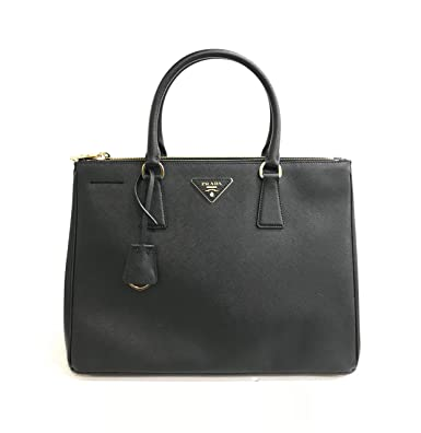 478ac2d81c2b7a Image Unavailable. Image not available for. Color: Prada Women's Travel Nylon  Leather Duffel Bag Black