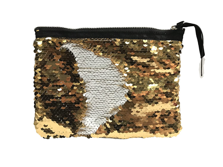 62d9377524 Amazon.com  ROOSSI Reversible Sequins Travel Makeup Bag Mermaid Evening  Clutch Bag Cosmetic Handbag Organizer Color 3  Beauty