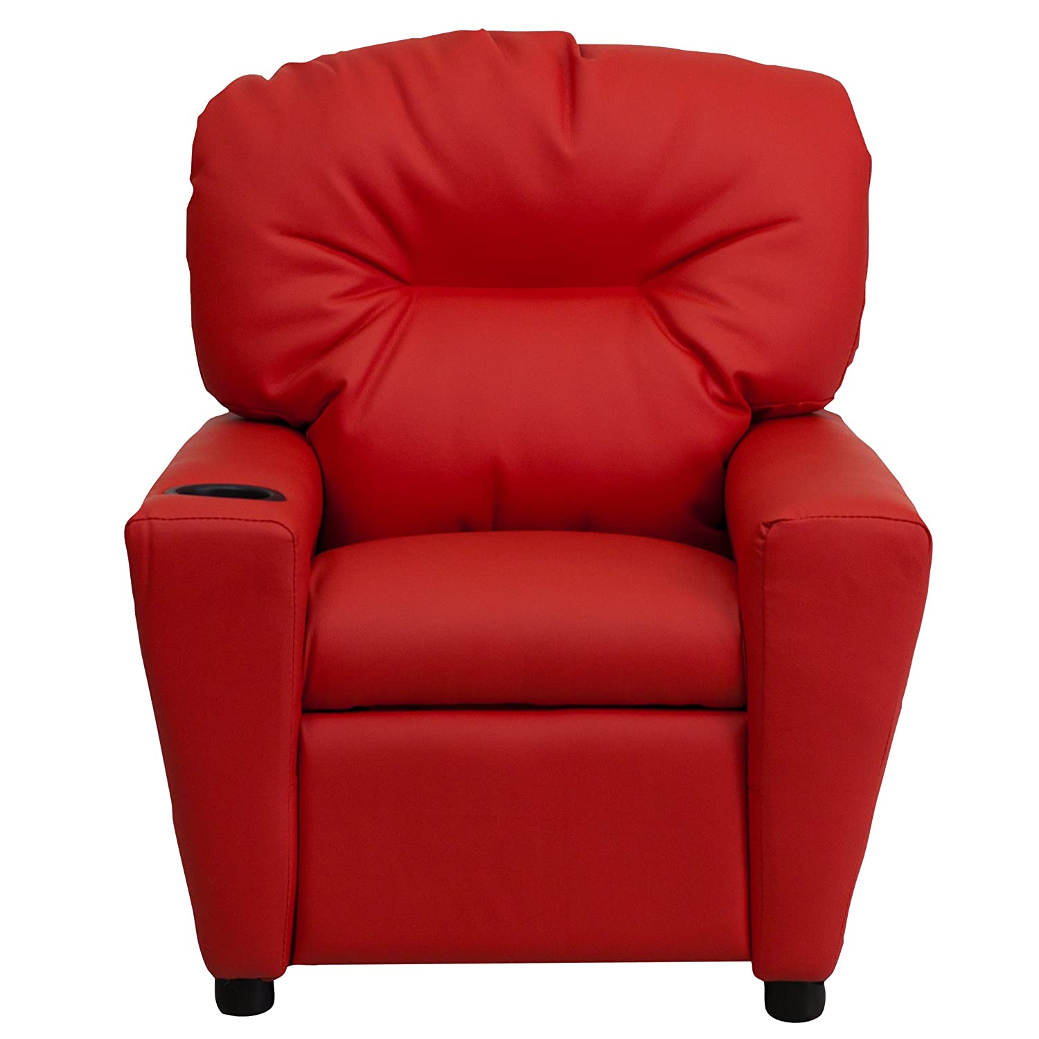 Amazon Flash Furniture Contemporary Red Vinyl Kids Recliner