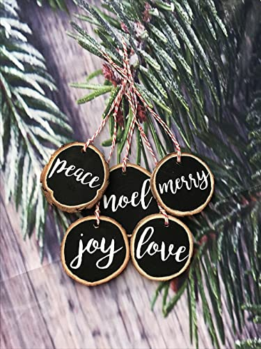 Holiday Words Ornament Set