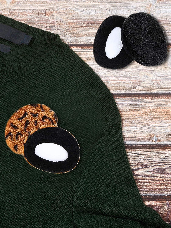 SATINIOR Paraorecchie Senza Fascia Leopard Paraorecchie Copri Orecchie Invernali per Esterno