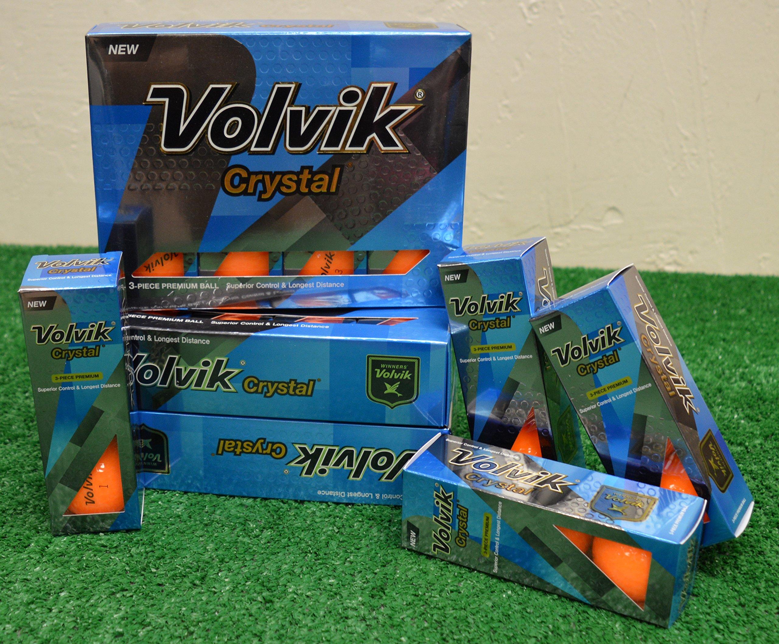 4 Dozen Volvik Crystal Orange Golf Balls - New in Box