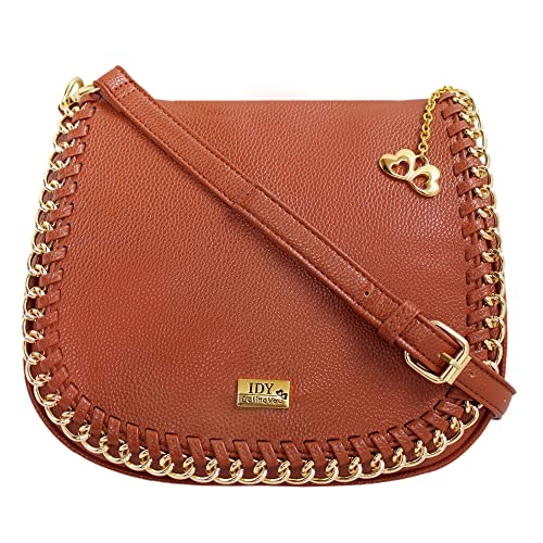 1a8a0d202b75 Anglopanglo Brown Color Women s Sling Bag  Amazon.in  Shoes   Handbags