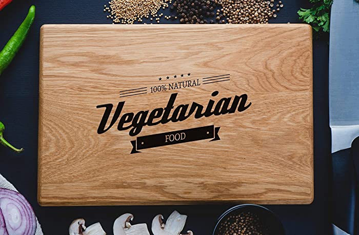 Vegetarian Vegan Healthylife Vegetables Yoga Personalized Engraved Cutting Board