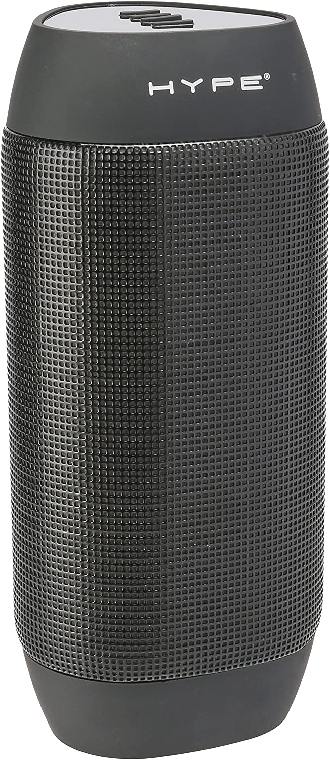 Hype BASS Bluetooth Speaker, Rechargeable w/9 LED Pulse & Bounce Mode Colors