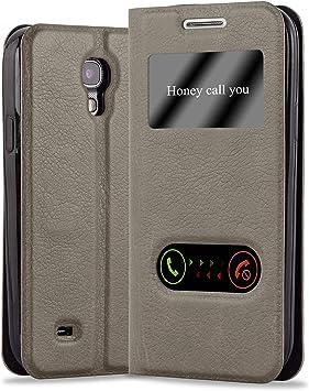 Cadorabo Funda Libro para Samsung Galaxy S4 Mini en MARRÓN Piedra: Amazon.es: Electrónica