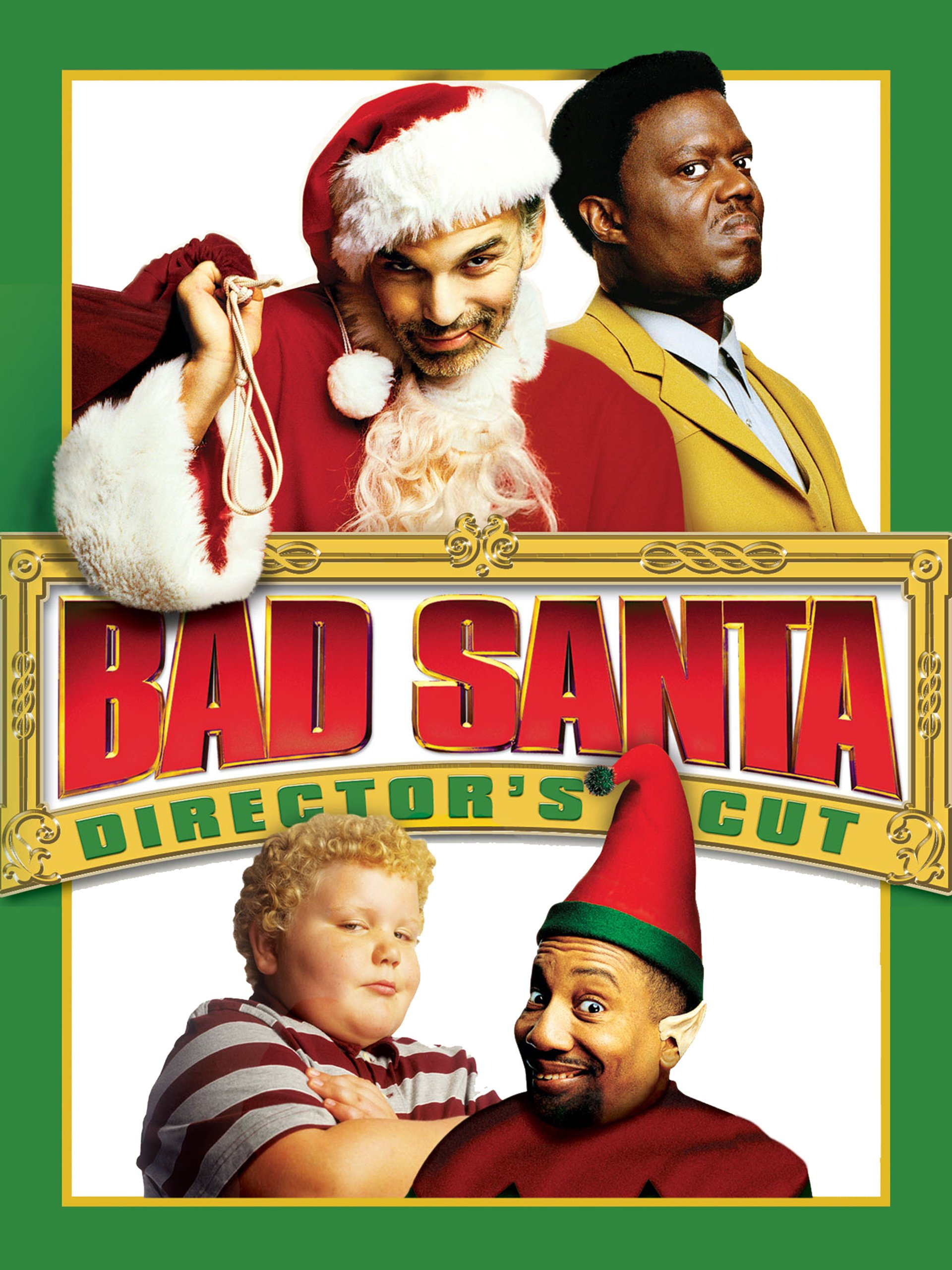 Amazon Com Bad Santa Director S Cut Billy Bob Thornton Tony Cox