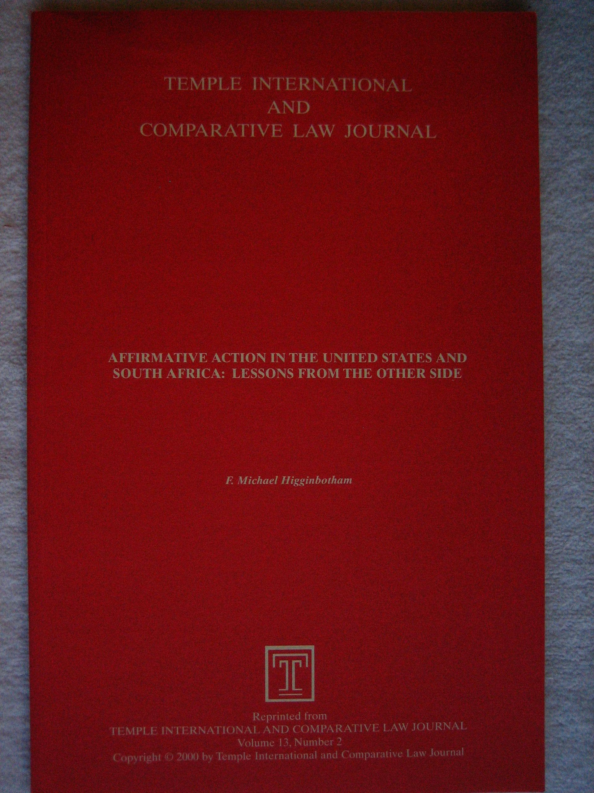 Temple International and Comparative Law Journal