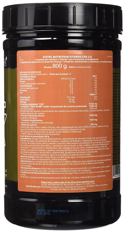 Amazon.com: Vitargo CRX 2.0-1.764 lbs - Scitec nutrition: Health & Personal Care