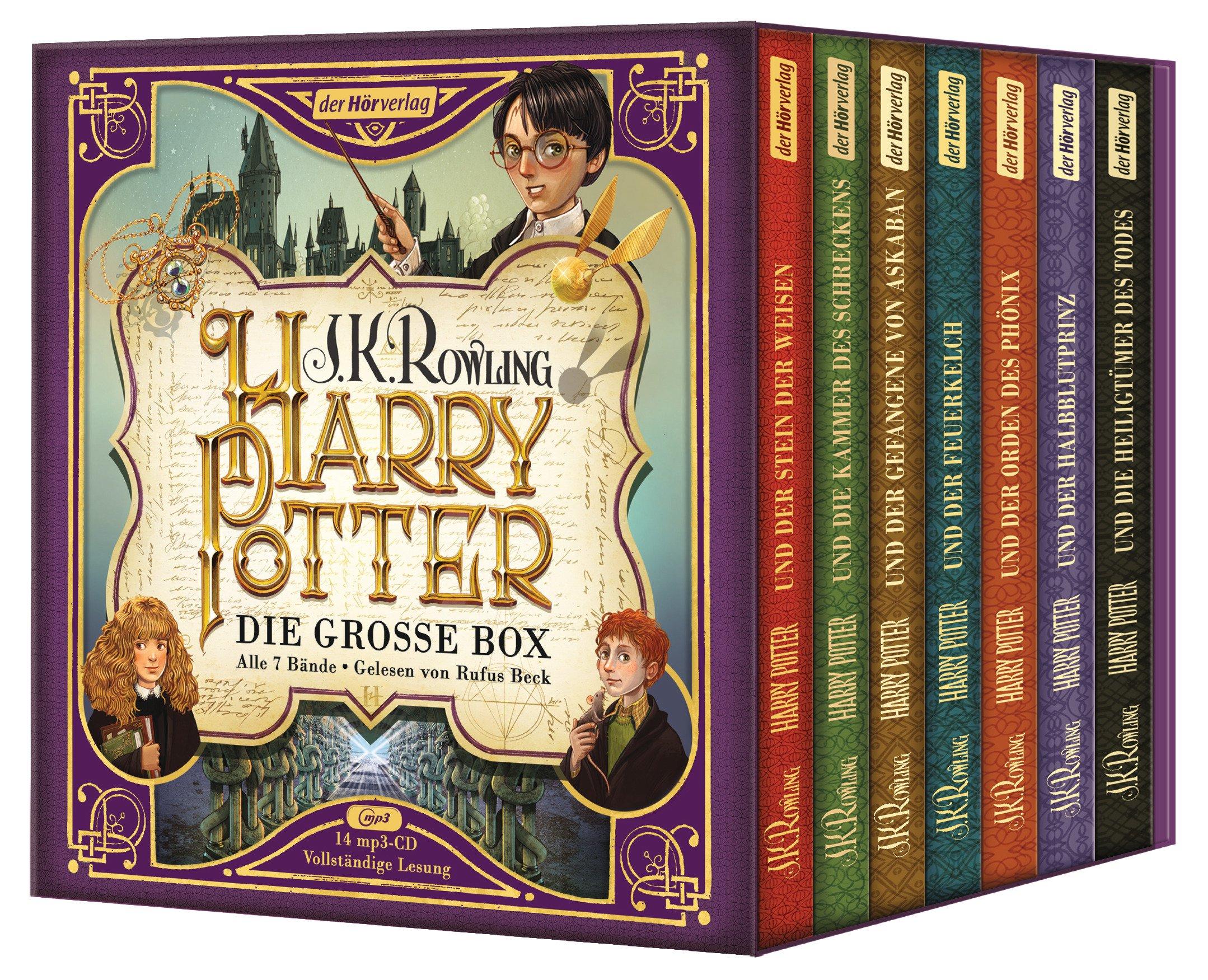 Harry Potter Die Grosse Box Zum Jubilaum Alle 7 Bande Gelesen Von Rufus Beck Amazon Es Rowling J K Beck Rufus Fritz Klaus Libros En Idiomas Extranjeros